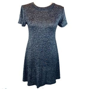 Pinc M dark heather gray short sleeve swing dress